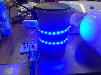 Initial prototype lit up